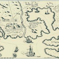 Topografski prikaz Rijeke i okolice iz XVII. stoljeća.