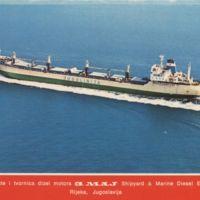 """Brodogradilište i tvornica dizel motora 3. maj: motorni brod """"Sava"""""""