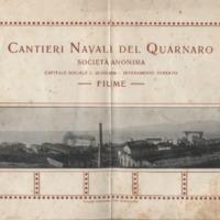 Cantieri Navali del Quarnaro: societta anonima, capitale sociale L. 26.000.000. - interamente versato